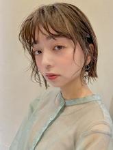 顔まわりパーマ切りっぱなしボブ MINX 銀座五丁目店 和田 かな子のヘアスタイル