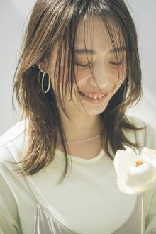 シースルー前髪×くびれ 韓国風エギョモリヘア|MINX 銀座五丁目店のヘアスタイル