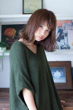 切りっぱなしの外ハネボブ|MINX 原宿店 藤田 昂補のヘアスタイル