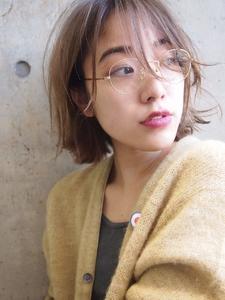 大人 透け感 BOB|MINX 原宿店のヘアスタイル
