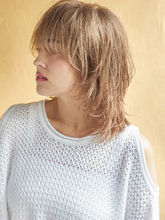 ナチュモードな小顔ウルフ|MINX 原宿店のヘアスタイル