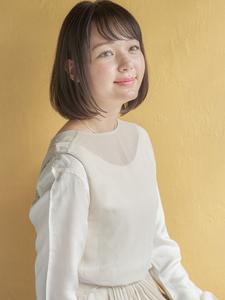 大人かわいい小顔シースルーバング|MINX 原宿店のヘアスタイル