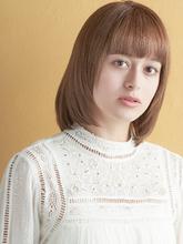 王道ストレートロブスタイル|MINX 原宿店のヘアスタイル