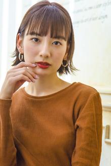 毛先パーマ ミルクティーベージュ|MINX 原宿店のヘアスタイル