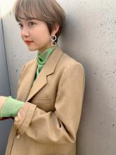 ハイトーンベージュ ショート|MINX 原宿店のヘアスタイル