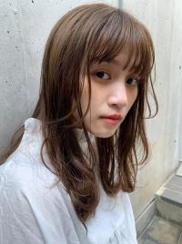 毛先パーマのゆらぎ髪
