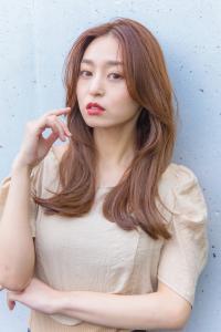 大人可愛い 韓国レイヤー 前髪なし