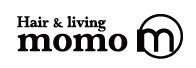 Hair&living momo  | ヘアーアンドリビングモモ  のロゴ