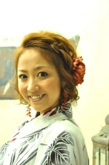 編み込み×浴衣♪  夏の定番!!|NATURAのヘアスタイル
