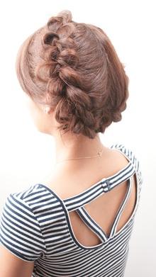 [nico.style]タイトロープ&バックブレイズ|nico.のヘアスタイル