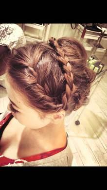 [nico.style]編みこみ返し+三つ編み|nico.のヘアスタイル