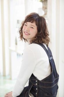 眉上ベビーバングがアクセント☆|OLIVE hair feel のヘアスタイル