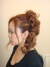 シャギーでも動きのある アップスタイル|Perm Pam 熊谷店のヘアスタイル