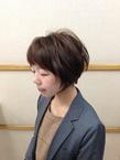 丸くソフトなシルエットボブ|美容室/美容院 Run アールアン  平塚のヘアスタイル