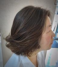 毛先パーマのボブスタイル|美容室/美容院 Run アールアン  平塚 鈴木 静のヘアスタイル