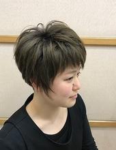 浮き感とシャープさを活かしたショート|美容室/美容院 Run アールアン  平塚 鈴木 静のヘアスタイル