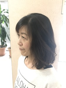 やわふわ髪のウェーブスタイル|美容室/美容院 Run アールアン  平塚のヘアスタイル