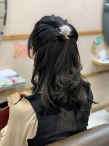 くるりんぱハーフアップ|美容室/美容院 Run アールアン  平塚のヘアスタイル