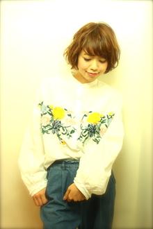 「ショートボブ春」のパーマバージョン|RENJISHI KICHIJOJIのヘアスタイル