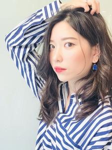 大人かき上げオフィスセミロング☆|RENJISHI KICHIJOJIのヘアスタイル