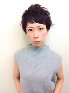 外ハネ黒髪ベリーショート|RENJISHI KICHIJOJIのヘアスタイル