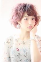 透け感と甘さが可愛い☆エアウェーブショート|RENJISHI KICHIJOJIのヘアスタイル