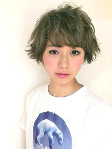 くせ毛風カジュアルショート|RENJISHI KICHIJOJIのヘアスタイル
