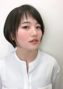 ショートバング黒髪ボブ|RENJISHI KICHIJOJIのヘアスタイル