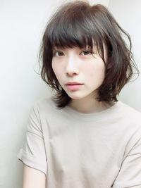 ゆるふわパーマ風フェミニンミディアムスタイル☆