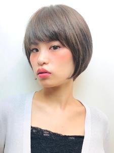 フォルムが綺麗なナチュラルショートボブ|RENJISHI KICHIJOJIのヘアスタイル