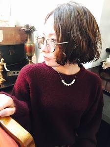 顎ラインウェーブボブ|RENJISHI KICHIJOJIのヘアスタイル