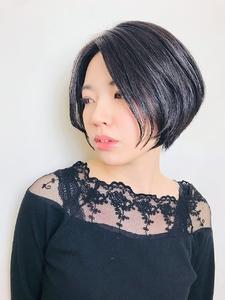 前下がりアッシュショートボブ|RENJISHI KICHIJOJIのヘアスタイル