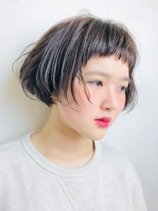 ゆるふわデコだしバングボブ|RENJISHI KICHIJOJIのヘアスタイル