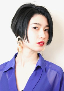 センター分けショートボブ|RENJISHI KICHIJOJIのヘアスタイル