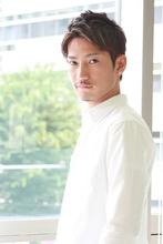 アップバングベリーショート|RENJISHI KICHIJOJI 宮本 華早のメンズヘアスタイル