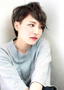 無造作パーマ風クールショート|RENJISHI KICHIJOJIのヘアスタイル