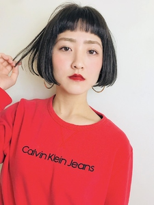 ミニマムバングボブ RENJISHI KICHIJOJIのヘアスタイル