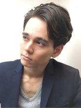 前髪かきあげメンズショート|RENJISHI KICHIJOJIのヘアスタイル
