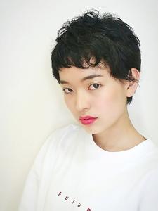 クセを生かしたベリーショートスタイル|RENJISHI KICHIJOJIのヘアスタイル