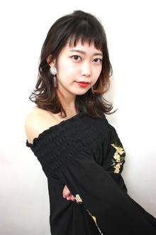アクセントカラーの入ったロブレイヤー|RENJISHI KICHIJOJIのヘアスタイル