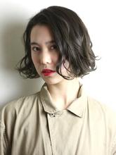 アンニュイパーマボブ|RENJISHI KICHIJOJI 宮本 華早のヘアスタイル