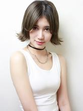 センターパートの外ハネボブ|RENJISHI KICHIJOJI 宮本 華早のヘアスタイル