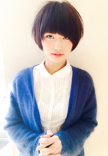 アシメバングの伸ばしかけショートスタイル|RENJISHI KICHIJOJIのヘアスタイル