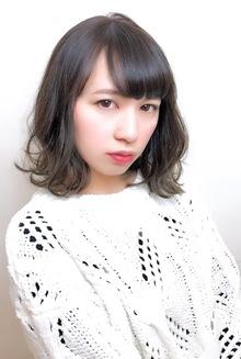 外ハネアッシュグレージュボブ|RENJISHI KICHIJOJIのヘアスタイル