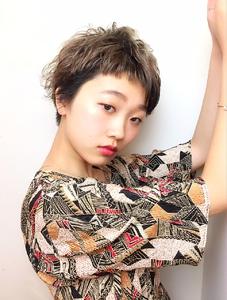 アシメバングショート|RENJISHI KICHIJOJIのヘアスタイル