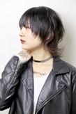 3Dカラー黒髪マッシュウルフ