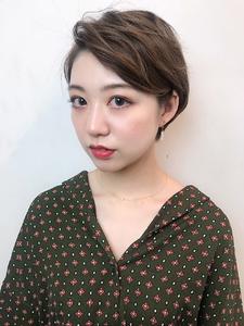 耳かけニュアンスパーマショート サイド|RENJISHI KICHIJOJIのヘアスタイル