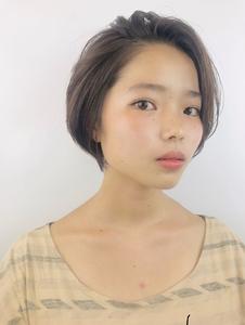 前髪かきあげショート RENJISHI KICHIJOJIのヘアスタイル