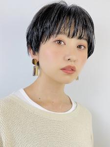 シースルーバングショート|RENJISHI KICHIJOJIのヘアスタイル