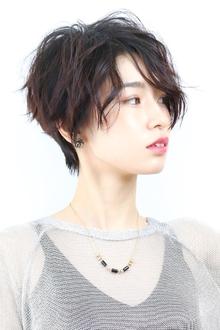ボリュームアップ黒髪ショート|RENJISHI KICHIJOJIのヘアスタイル